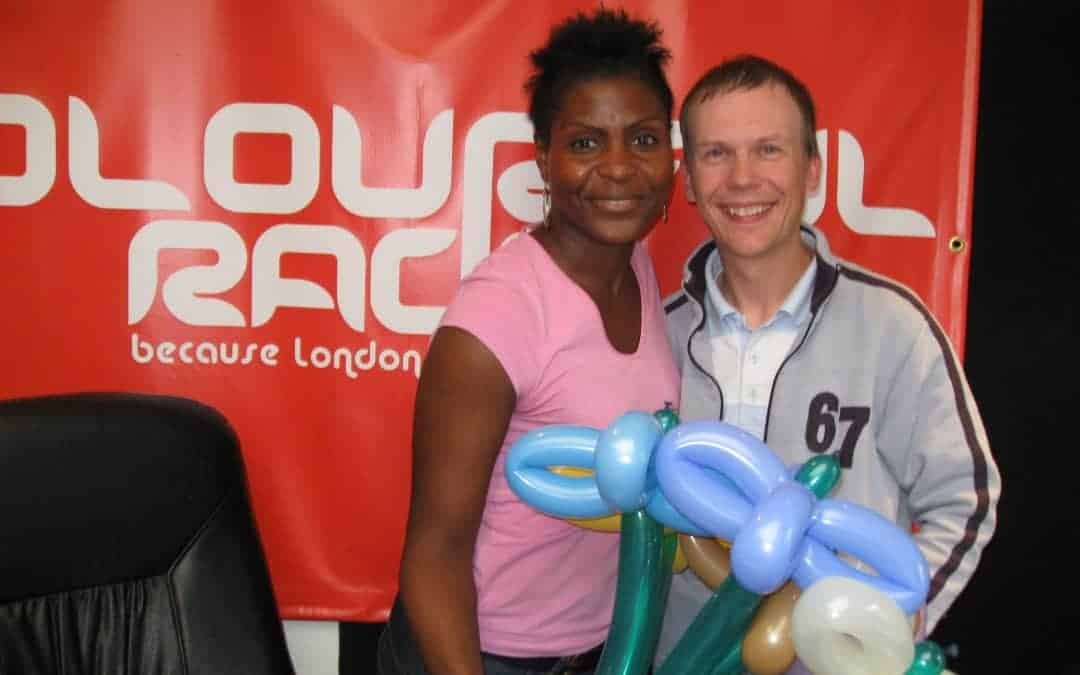 Gordon is the guest balloon expert for Colourful Radio (with audio)